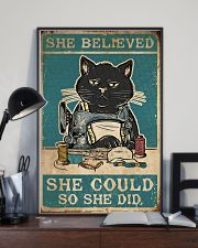 Cat She Believed She Could 16x24 Poster lifestyle-poster-2