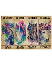 Unicorn Be Strong Be Brave 36x24 Poster front