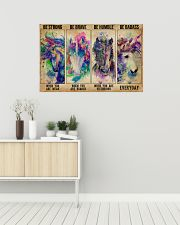 Unicorn Be Strong Be Brave 36x24 Poster poster-landscape-36x24-lifestyle-01