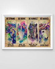 Unicorn Be Strong Be Brave 36x24 Poster poster-landscape-36x24-lifestyle-02
