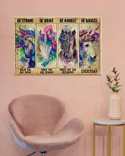Unicorn Be Strong Be Brave 36x24 Poster poster-landscape-36x24-lifestyle-19