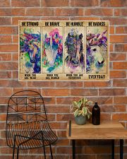 Unicorn Be Strong Be Brave 36x24 Poster poster-landscape-36x24-lifestyle-20