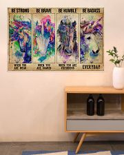 Unicorn Be Strong Be Brave 36x24 Poster poster-landscape-36x24-lifestyle-22