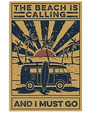 Surfing The beach Is Calling 16x24 Poster front