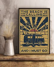 Surfing The beach Is Calling 16x24 Poster lifestyle-poster-3