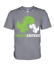 Mamasaurus V-Neck T-Shirt tile
