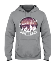 Camping hair don't care Hooded Sweatshirt tile