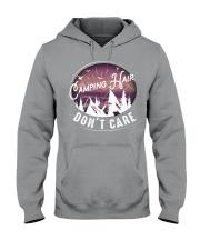 Camping hair don't care Hooded Sweatshirt thumbnail