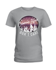 Camping hair don't care Ladies T-Shirt thumbnail