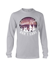 Camping hair don't care Long Sleeve Tee tile