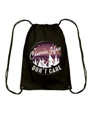 Camping hair don't care Drawstring Bag thumbnail
