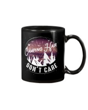 Camping hair don't care Mug tile