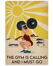 Fitness The Gym Is Calling 16x24 Poster front