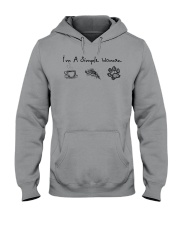 Dog I'm A Simple Woman - Hoodie And T-shirt Hooded Sweatshirt front