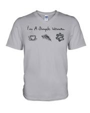 Dog I'm A Simple Woman - Hoodie And T-shirt V-Neck T-Shirt thumbnail
