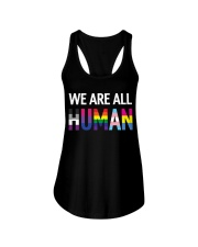We are all Human Ladies Flowy Tank thumbnail