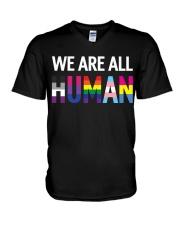 We are all Human V-Neck T-Shirt thumbnail