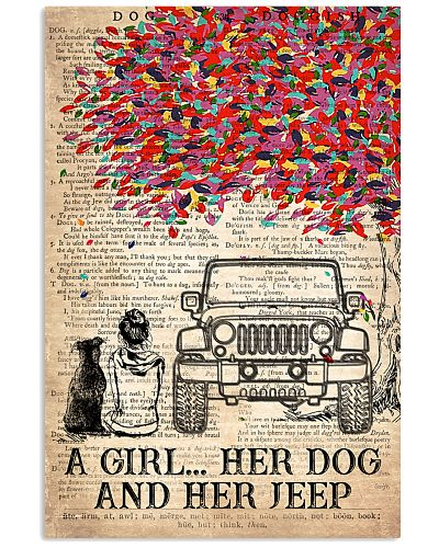 A Girl Her Dog and Her Jeep