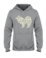 Life is better with samoyeds around Hooded Sweatshirt thumbnail