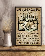 Camping Life Is Like A Camera 16x24 Poster lifestyle-poster-3