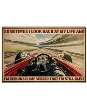 Racing Sometimes I Look Back At My Life 36x24 Poster front