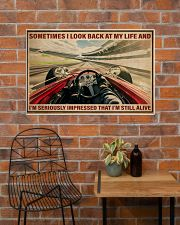 Racing Sometimes I Look Back At My Life 36x24 Poster poster-landscape-36x24-lifestyle-20