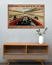 Racing Sometimes I Look Back At My Life 36x24 Poster poster-landscape-36x24-lifestyle-21