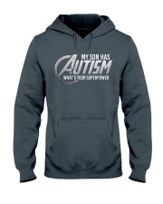 My son has Autism Hooded Sweatshirt thumbnail