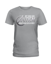 My son has Autism Ladies T-Shirt thumbnail