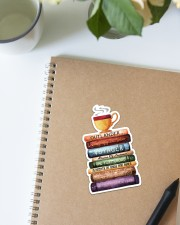 Book and Tea Sticker - Single (Vertical) aos-sticker-single-vertical-lifestyle-front-16