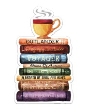 Book and Tea Sticker - Single (Vertical) front