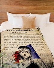 "Book Les Miserables Large Fleece Blanket - 60"" x 80"" aos-coral-fleece-blanket-60x80-lifestyle-front-02"