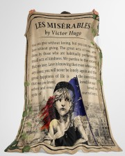 "Book Les Miserables Large Fleece Blanket - 60"" x 80"" aos-coral-fleece-blanket-60x80-lifestyle-front-10"