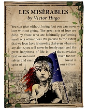 "Book Les Miserables Large Fleece Blanket - 60"" x 80"" front"