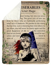 "Book Les Miserables Large Sherpa Fleece Blanket - 60"" x 80"" thumbnail"