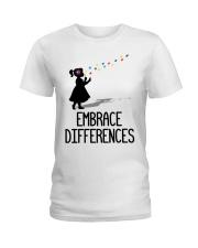 Embrace Differences Ladies T-Shirt front