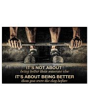 Fitness It's Not About Being Better 36x24 Poster front