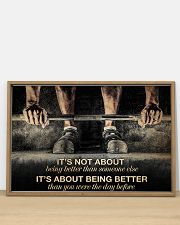 Fitness It's Not About Being Better 36x24 Poster poster-landscape-36x24-lifestyle-03