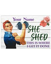 Fitness She Shed 36x24 Poster front