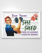 Fitness She Shed 36x24 Poster poster-landscape-36x24-lifestyle-02