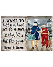 Gym Baby Let's Hit The Gym 36x24 Poster front