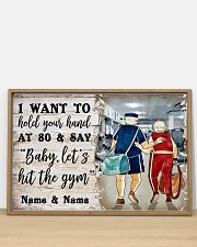 Gym Baby Let's Hit The Gym 36x24 Poster poster-landscape-36x24-lifestyle-03