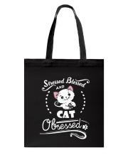 cat obsessed Tote Bag thumbnail