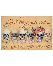 Skull God Says You Are 36x24 Poster front