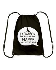 Labrador make me happy Drawstring Bag thumbnail