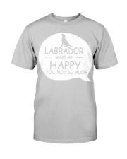 Labrador make me happy Classic T-Shirt thumbnail