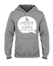 Labrador make me happy Hooded Sweatshirt thumbnail