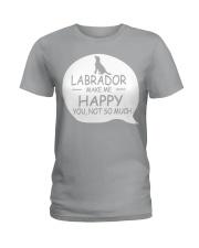 Labrador make me happy Ladies T-Shirt thumbnail