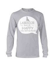 Labrador make me happy Long Sleeve Tee thumbnail