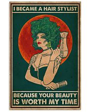 Hairdresser I Became A Hair Stylist 16x24 Poster front